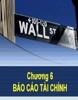 slide bài giảng chương 6 báo cáo tài chính