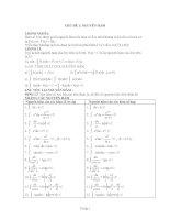 chủ đề các phương pháp tìm nguyên hàm