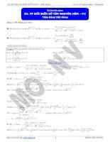 phương pháp đổi biến số tìm nguyên hàm p2