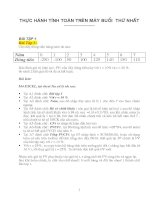 bài tập môn thẩm định dự án_ thực hành trên excel