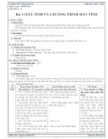 Giáo án Tin học 8 học kì 1 chuẩn kiến thức kỹ năng