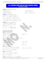 giải phương trình bằng phương pháp hàm số