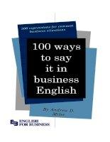 100 cách để nói tốt  tiếng anh