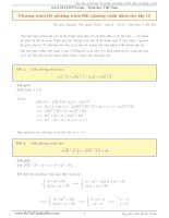 Phương pháp giải phương trình,hệ phương trình vô tỉ