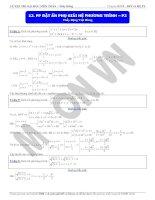 Phương pháp đặt ẩn phụ giải hệ phương trình phần 2