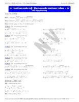 phương pháp đặt ẩn phụ giải phương trình (1)