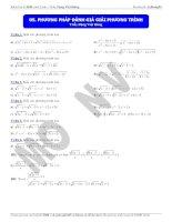 giải phương trình bằng phương pháp đánh giá