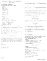 một số ứng dụng của tích phân trong vật lý