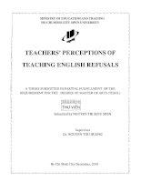 Teachers perceptions of teaching English refusals
