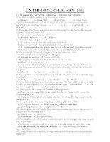 130 câu hỏi Ôn thi Công chức môn Tin học (Đã làm sẵn đáp án)