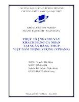 Thực trạng cho vay khách hàng cá nhân tại ngân hàng TMCP Việt Nam Thịnh Vượng (VPBANK)