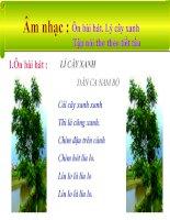 bài giảng âm nhạc 1 bài 9 ôn tập bài hát lí cây xanh. tập nói thơ theo tiết tấu