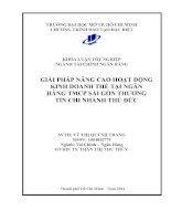 Giải pháp nâng cao hoạt động kinh doanh thẻ tại ngần hàng TMCP Sài Gòn thương tín Chi nhánh Thủ Đức