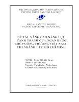 Nâng cao năng lực cạnh tranh của ngân hàng TMCP công thương Việt Nam Chi nhánh 1 thành phố Hồ Chí Minh