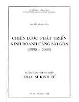 Chiến lược phát triển kinh doanh cảng Sài Gòn (1998 đến 2003)