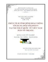 Phân tích tình hình hoạt động tín dụng đối với DNNVV tại ngân hàng TMCP quốc tế Việt Nam Phòng giao dịch Võ Thị Sáu