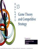 slide bài giảng kinh tế vi mô tiếng anh ch13 game theory