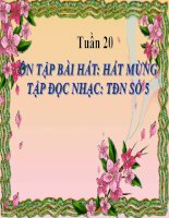 bài giảng âm nhạc 5 tiết 20 ôn hát hát mừng. tập đọc nhạc tđn số 5