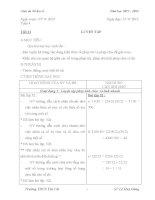 GIÁO ÁN SỐ HỌC LỚP 6