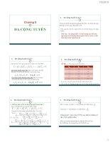 bài giảng kinh tế lượng chương 5 đa công tuyến