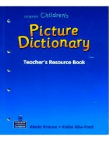 picture dictionary teacher''s resource book