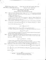 đề thi cao học toán cơ sở giải tích đại học sư phạm hồ chí minh từ năm 2003 đến 2014