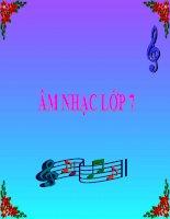 bài giảng âm nhạc 7 bài 2 nhạc lí nhịp lấy đà. tập đọc nhạc tđn số 2. antt sơ lược một vài nhạc cụ phương tây