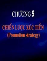 slide bài giảng marketing căn bản chương 9 chiến lược xúc tiến