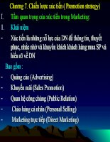 slide bài giảng marketing căn bản chương 7. chiến lược xúc tiến ( promotion strategy)