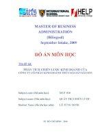 Đồ án môn học: Phân tích chiến lược kinh doanh của Công ty cổ phần kinh doanh thủy hải sản Sài Gòn