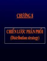 slide bài giảng marketing căn bản chương 8 chiến lược phân phôi