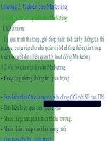 slide bài giảng marketing căn bản chương 3. nghiên cứu marketing