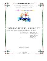 Báo cáo thực tập quản lý thư viện trường cao đảng kinh tế kỹ thuật