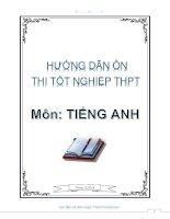 tài liệu hướng dẫn ôn tập tốt nghiệp THPT môn tiếng anh