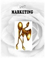 slide tiếng anh chuyên ngành kinh tế business leader unit 7 marketing