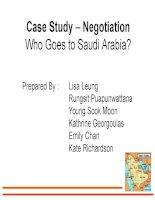 slide case study – negotiation who goes to saudi arabia
