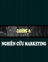 slide bài giảng marketing căn bản chương 4 nghiên cứu marketing