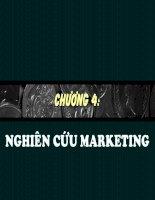 slide bài giảng marketing chương 4 nghiên cứu marketing