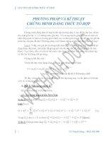 PP, kỹ thuật chứng minh đẳng thức tổ hợp