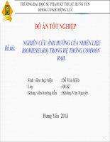 NGHIÊN cứu ẢNH HƯỞNG của NHIÊN LIỆU BIODIESEL(B5) TRONG hệ THỐNG COMMON RAIL