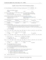 Ngân hàng câu hỏi trắc nghiệm môn vật lý đại cương