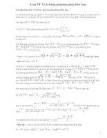 Giải phương trình vô tỷ bằng phương pháp nhân liên hợp