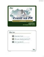 bài giảng môn quan hệ công chúng pr_ event và pr