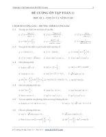 đề cương ôn tập học kì 1 môn toán lớp 11
