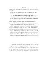 Đề tài thẩm quyền sơ thẩm dân sự của tòa án các cấp theo quy định của bộ luật tố tụng dân sự
