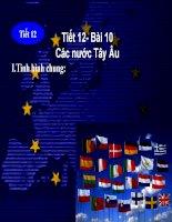 Sử 9 Tiết 12 Bài 10 Các nước Tây Âu