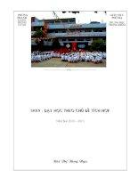 Sáng kiến kinh nghiệm phương pháp dạy học tích hợp liên môn Toán THCS Trọng Điểm Thành Phố Hạ Long
