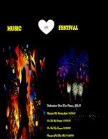 British study music and festivals  Âm nhạc và lễ hội Anh