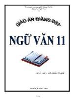 Giáo án môn Ngữ Văn 11 trọn bộ cả năm