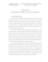 HƯỚNG dẫn  về đề CƯƠNG NGHIÊN cứu LUẬN văn THẠC sĩ